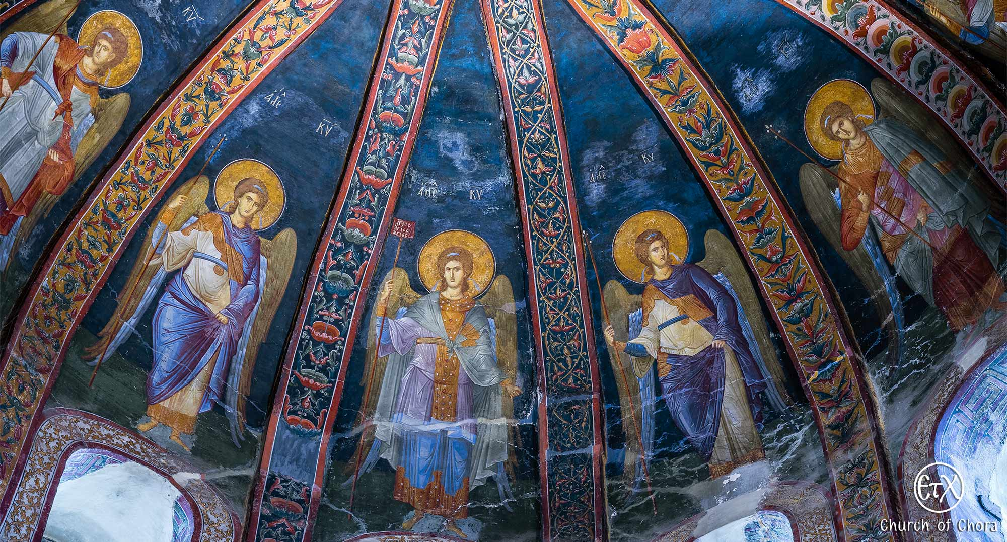 The Attendant Angels, Parekklesion, Chora Museum (Chora Church) in Istanbul.