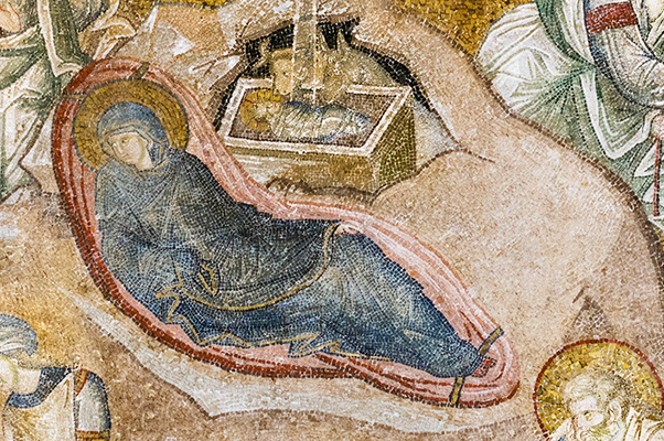 The Nativity, birth of Christ, Chora Museum (Chora Church), Outer Narthex