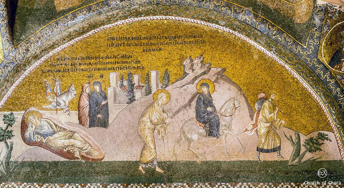 Chora Museum (Chora Church) Istanbul, Joseph's Dream and the Journey to Bethlehem mosaic
