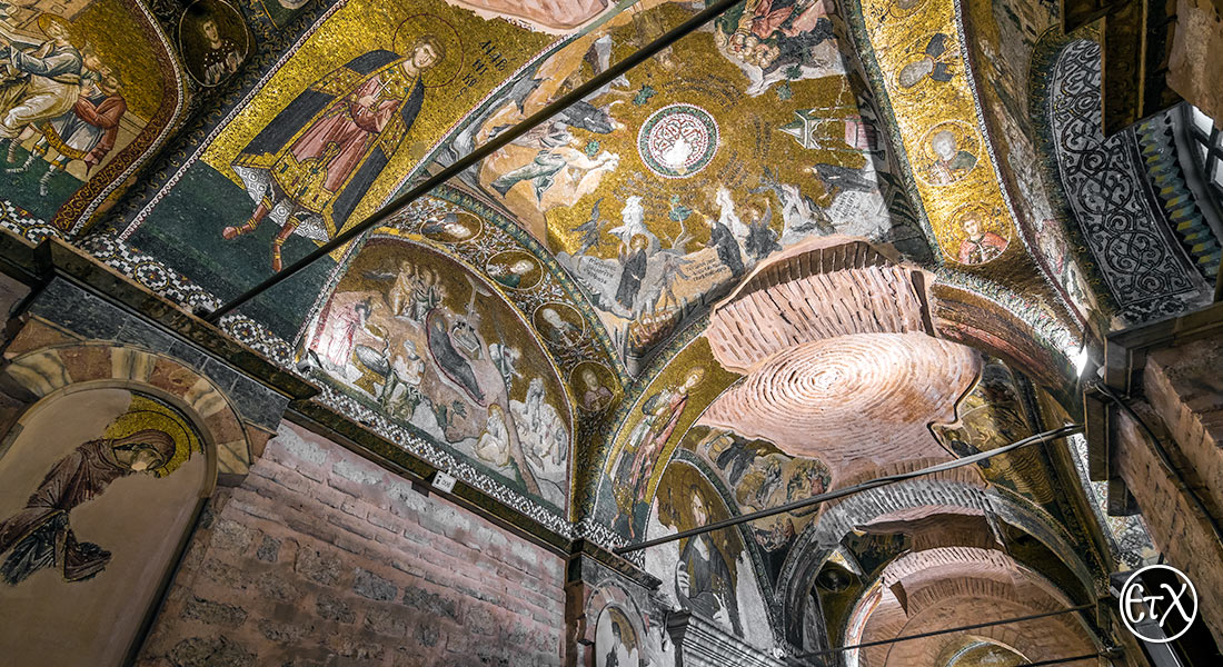 Church of Chora, depictions of saints on arches